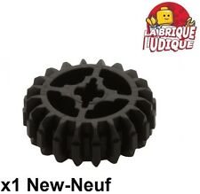 Lego technic - 1x engrenage pignon gear 20 tooth dbl bevel noir/black 32269 NEUF