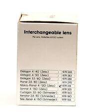 Für Rolleiflex 6000: Carl Zeiss Makro-Planar 4/120mm HFT PQ #7153493