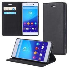Funda-s Carcasa-s para Sony Xperia Z4 Libro Wallet Case-s bolsa Cover Negro