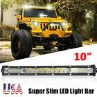 10inch 78W LED Light Bar Single Row Spot Flood Combo Work Lamp SUV ATV 4X4 WD US