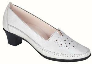 SAS Sonyo Slip On Heel Pump Shoe Sz 10 W Womens New Pearl White Ortho