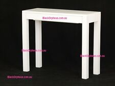 Hall Table, Small Narrow Table, Drawer, Console, 90x35, Timber Table, White