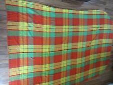 Vintage Penneys Fashion Manor Twin Plaid Cabin Camp Bedspread Throw