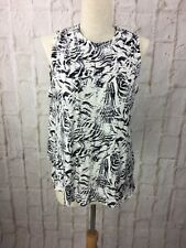 Christian Siriano New York Backless blouse size M Zebra Brand New RRP $50.00