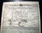 SEVEN DAYS BATTLES MAPS Richmond VA Gen. Robert E. Lee 1862 Civil War Newspaper
