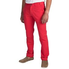 NWT Mens Barbour Pantone Collection Chino Pants in a Red Orange Twill sz 34