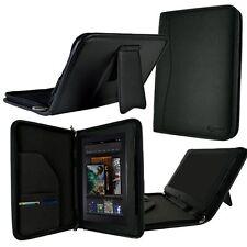 "rooCASE for Amazon Kindle Fire 7"" - Executive Leather Folio Case Black Lot C4"