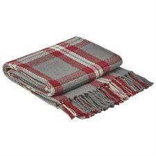 "Park Designs Farmhouse Holiday Throw Blanket 50"" x 60"" Christmas Gray Red"