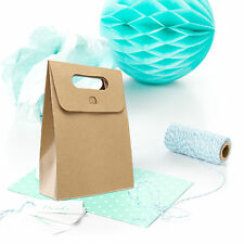 5 St. Geschenktaschen / Geschenktüten aus Kraftpapier KARTON Papiertüten braun