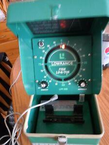 VINTAGE LOWRANCE FISH LO-K-TOR LFP-300 Depth Finder Green Box/Transducer/Works