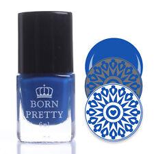 Blue Nail Stamping Polish Nail Art Stamp Printing Polish Varnish Decor 6ml #288