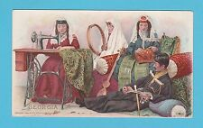 NATIONS - SINGER SEWING - RARE NATIONS / ADVERTISING CARD -  GEORGIA  - 1894