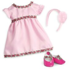 American Girl Bitty Baby Pink Rose Dress Outfit Shoes Headband NEW in AG Pkg.