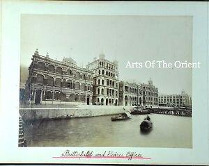 5 ANTIQUE PHOTO CHINESE CHINA CANTON HONGKONG MACAU ALBUMEN PEAK HOTEL 1890 #3