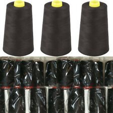Black Overlocking Sewing Machine Polyester Thread Four 5000Yard Cones For £7.99