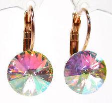 SoHo® Ohrringe Ohrhänger geschliffene Kristalle rivoli rosegold aurore boreale