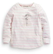 ВNWT NEXT Tunic Blouse T-Shirts • Pink Stripe Flower Top • 100% Cotton • 3 Years