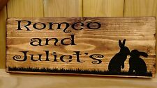 RABBIT NAME Sign Plaque Hutch run cage door Personalised SINGLE or DOUBLE