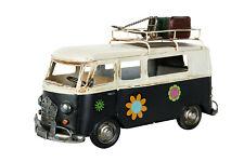 Deko Hippie-Bus Ibiza Blech Auto Modell Retro Vintage Nostalgie Shabby Bulli VW