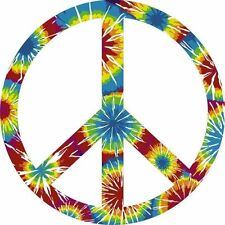 Signe de paix tye dye la paix mondiale Autocollant Decal étiquette en vinyle graphique