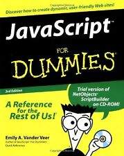 Javascript For Dummies,Emily A. Vander Veer