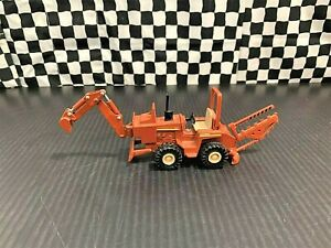 Etrl Ditch Witch 4010 Trencher w/Detachable Backhoe - Brown - 1:43 Diecast Boxed
