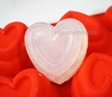 6 cell DEEP TIERED HEART SILICONE MOULD Soap Candle Jelly Wax Cake Baking C8033