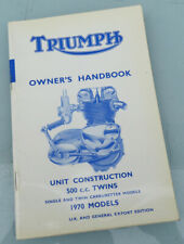 1970 Triumph Motorcycle Factory Book Manual 500cc Tiger 100T T100 S