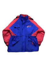 Buffalo Bills Vintage Winter Insulated Jacket Hooded Full Zip Mens XL NFL Logo 7