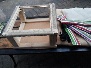 rag rug hooking / punch needle gripper frame / lap frame, tools, hessian, scrim