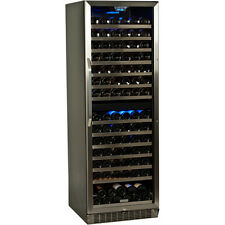 Large 155 Bottle Built-In Wine Cooler, Dual-Zone Commercial Refrigerator Cellar