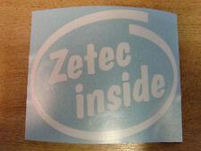"""""""Zetec Inside"""" Bumper/Window Sticker - Intel style Vinyl Decal"""