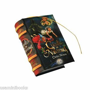 miniature book Cuento de Navidad by Charles Dickens 439 pages Spanish easy read