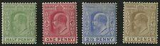 Bahamas   1906-11   Scott # 44-47   Mint Lightly Hinged Set