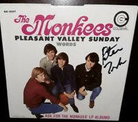 Monkees COLGEMS 45 Sleeve Only SIGNED by Peter Tork Jones Dolenz Nesmith