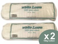 White Lawn Cotton Wool Pleats / Pads - 100% Pure Cotton 100g X2 (200g)