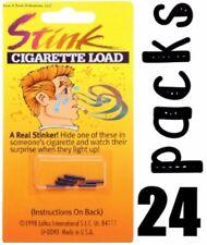 24 Packs Of 6 Stink Smell Cigarette Loads - Gag Prank Smoking Joke (144 Total)