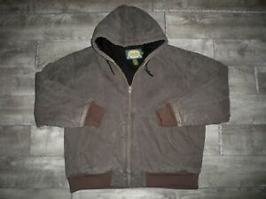 Cabela's Washed Duck Cotton Brown Work Coat Jacket Quilted Lined Men's XLarge XL