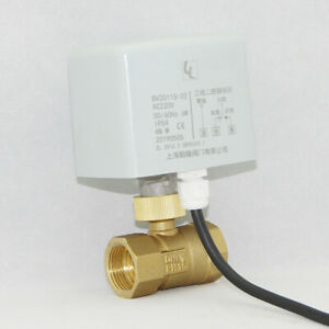 "AC220V 1"" BSP DN25 Brass 2 Way Motorized Ball Valve Electrical Actuator Valve"
