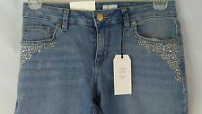 Style & Co Low Rise Skinny Light Wash Embellished Jeans Size 4 26x29