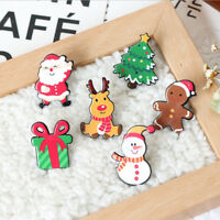 Christmas Brooch Pin Cartoon Lapel Collar Pin Corsage Brooch Xmas Gift JewelryNT