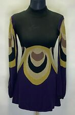 Alice by Temperley Women Knitted Lined Black Mix Color Sample Dress Size 8   ^