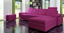 Ecksofa Textil Stoff Leder Polster Sofas Sofa Couch Garnitur Wohnlandscahft EDGA