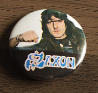 SAXON BUTTON BADGE English Heavy Metal Band - Wheels Of Steel - 747  25mm PIN