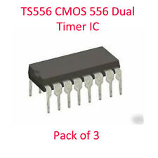 TS556 CMOS 556 Dual Timer IC Low Power Pack di 3