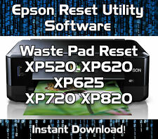 WASTE INK PADS RESET EPSON  XP520 XP620 XP625 XP720 XP820  SOFTWARE DOWNLOAD