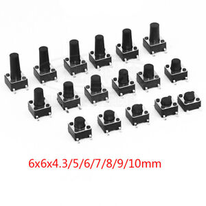 6x6mm 4 Pins SMD SMT Panel PCB Micro Momentary Tactile Tact Touch Button Switch