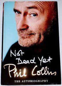 Phil Collins not dead yet signed genuine signature autograph book AFTAL COA