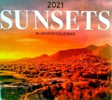 2021 AWESOME SUNSETS WALL CALENDAR ORGANIZER DAY PLANNER SUNSET PHOTOS FREE S/H!