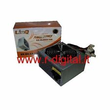 ALIMENTATORE PC COMPUTER ATX 500w 500 WATT 20 24 P 12Cm SILENT FAN IDE SATA PCI